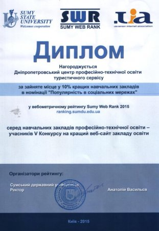 Нагороди за 2015 р.